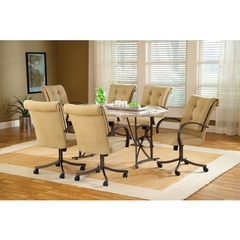Buy Hillsdale Harbour Point 7 Piece 60x42 Octagon Dining Set w/ Caster Chair on sale online