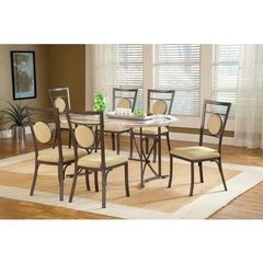 Buy Hillsdale Harbour Point 7 Piece 60x42 Octagon Dining Set w/ Metal Chair on sale online