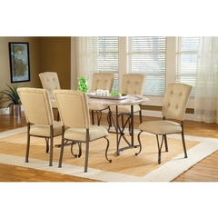 Buy Hillsdale Harbour Point 7 Piece 60x42 Octagon Dining Set w/ Parson Chair on sale online