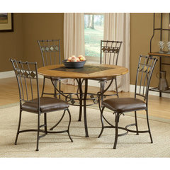 Buy Hillsdale Lakeview 5 Piece Round Dining Room Set w/ Slate Side Chairs on sale online