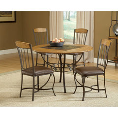 Buy Hillsdale Lakeview 5 Piece Round Dining Room Set w/ Wood Side Chairs on sale online