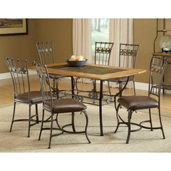 Buy Hillsdale Lakeview 7 Piece Rectangle Dining Room Set w/ Slate Side Chairs on sale online
