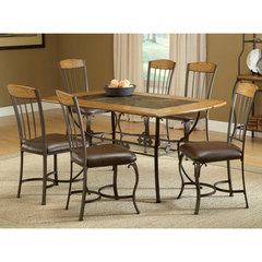 buy hillsdale lakeview 7 piece rectangle 60x36 dining room set w wood