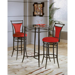 Buy Hillsdale Mix-N-Match 3 Piece 34x34 Pub Table Set w/ Cierra Stools in Flame on sale online