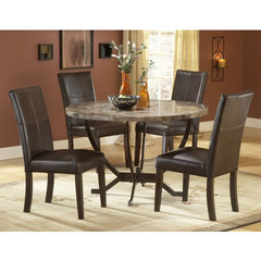 Add style to dining room with the Hillsdale Monaco 5-piece Dining Room Set!