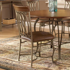 Buy Hillsdale Montello Side Chair w/ Brown Faux Leather (Set of 2) on sale online