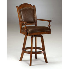 Buy Hillsdale Nassau Swivel Leather Game 30 Inch Barstool on sale online