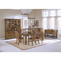Buy Hillsdale Outback 7 Piece 84x40 Dining Set in Distressed Chestnut on sale online