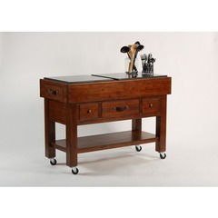 Buy Hillsdale 50x22 Outback Kitchen Island in Distressed Chestnut on sale online