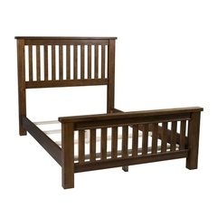Buy Hillsdale Outback Queen Slat Bed in Distressed Chestnut on sale online