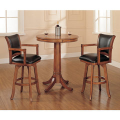 Buy Hillsdale Park View 3 Piece 36x36 Pub Table Set w/ Traditional Stools on sale online