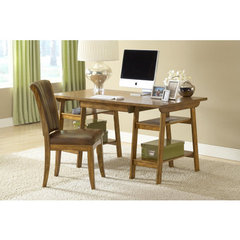 Buy Hillsdale Parkglen Desk w/ Grand Bay Chair in Medium Oak on sale online