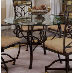 Buy Hillsdale Pompei Metal 48x48 Round Dining Table on sale online