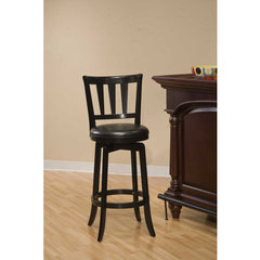 Buy Hillsdale Presque Isle Swivel 26 Inch Counter Height Stool in Black on sale online