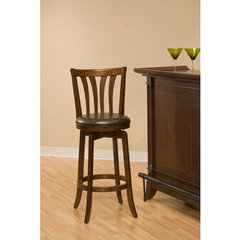 Buy Hillsdale Savana Swivel 26 Inch Counter Height Stool in Cherry on sale online