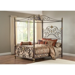 Buy Hillsdale Stanton Queen Canopy Bed Set w/ Matching Side Rail on sale online