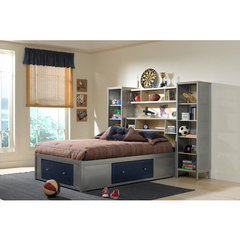 Buy Hillsdale Universal Storage Platform Bed w/ Bookcase Headboard And Wall Storage on sale online