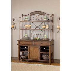 Buy Hillsdale Villagio Server w/ Hutch in Dark Chestnut on sale online