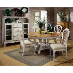 Buy Hillsdale Wilshire 5 Piece Round 56x56 Dining Room Set w/ Side Chairs in Antique White on sale online