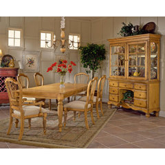 Buy Hillsdale Wilshire 7 Piece Rectangle 73x44 Dining Room Set in Antique Pine on sale online