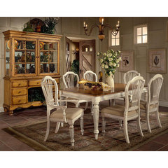 Buy Hillsdale Wilshire 7 Piece Rectangle Dining Room Set in Antique White on sale online