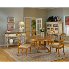 Buy Hillsdale Wilshire 7 Piece Round 56x56 Dining Room Set w/ Side Chairs in Antique Pine on sale online
