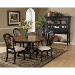 Buy Hillsdale Wilshire 7 Piece Round 56x56 Dining Room Set w/ Side Chairs in Rubbed Black on sale online