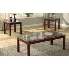 Buy Homelegance Achillea 3 Piece Faux Marble Occasional Table Set on sale online
