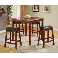 Buy Homelegance Achillea 5 Piece 36x36 Counter Height Set w/ Backless Stools on sale online