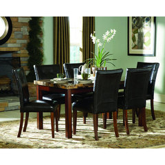 Buy Homelegance Achillea 7 Piece 60x36 Faux Marble Top Dining Room Set on sale online