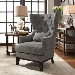 Buy Homelegance Adriano Arm Chair w/Pillow in Dark Grey on sale online