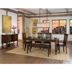 Buy Homelegance Alita 6 Piece 60x42 Dining Room Set w/ Bench in Warm Cherry on sale online