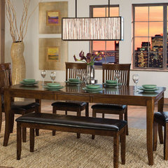 Buy Homelegance Alita Rectangular 60x42 Dining Table in Warm Cherry on sale online