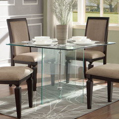 Buy Homelegance Alouette 42x42 Square Dining Table in Clear Glass on sale online