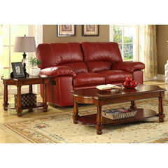 Buy Homelegance Amaya 2 Piece 50x26 Occasional Table Set in Cherry on sale online