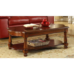 Buy Homelegance Amaya Traditional 50x26 Rectangular Cocktail Table in Cherry on sale online