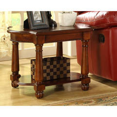 Buy Homelegance 28x24 Amaya Traditional Rectangular End Table in Cherry on sale online
