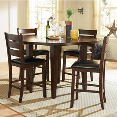Buy Homelegance Ameillia 5 Piece Round 60x60 Counter Height Set on sale online