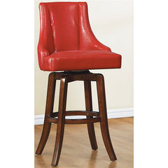 Buy Homelegance Annabelle 29 Inch Swivel Barstool in Red on sale online
