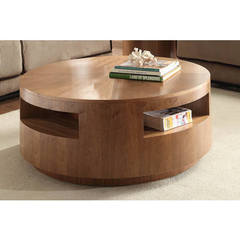 Buy Homelegance Aquinnah Contemporary 42 Inch Round Cocktail Table in Oak on sale online