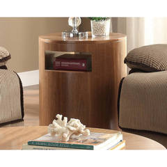 Buy Homelegance Aquinnah Contemporary 21x21 Round End Table in Oak on sale online