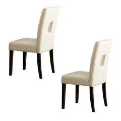 Buy Homelegance Archstone Bi-Cast Vinyl Side Chair in White on sale online