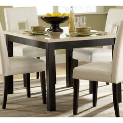 Buy Homelegance Archstone White Faux Marble Top 48x36 Dining Table on sale online