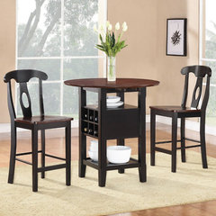 Buy Homelegance Atwood 3 Piece Oval 36x22 Counter Height Set in Rich Espresso on sale online