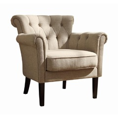 Buy Homelegance Barlowe Accent Chair in Oatmeal Linen on sale online