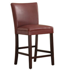 Buy Homelegance Belveder Counter Height Stool in Lava-Red on sale online