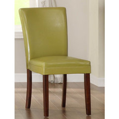 Buy Homelegance Belveder Side Chair in Chartreuse-Yellow on sale online