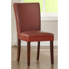 Buy Homelegance Belveder Side Chair in Lava-Red on sale online