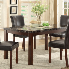 Buy Homelegance Belvedere 60x36 Dining Table w/Faux Marble Top in Espresso on sale online