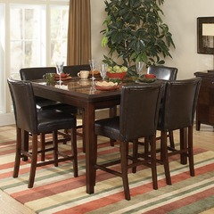 Buy Homelegance Belvedere 7 Piece 54x36 Counter Height Table Set in Espresso on sale online